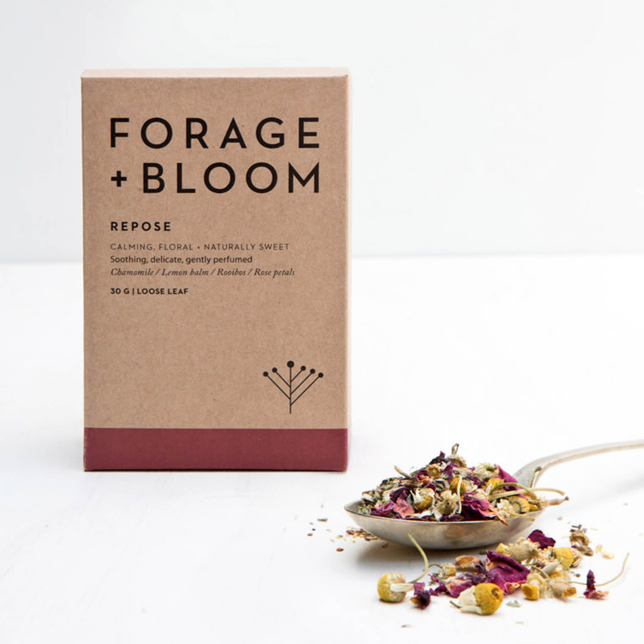 Repose (Chamomile, Lemon Balm, Rooibos & Rose Petals) Herbal Infusion