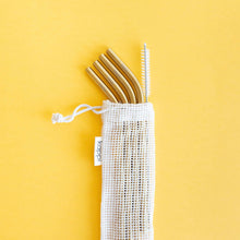 Reusable Gold Stainless Steel Straws