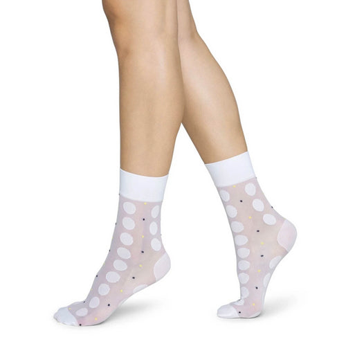 Sheer White Slow Fashion Socks