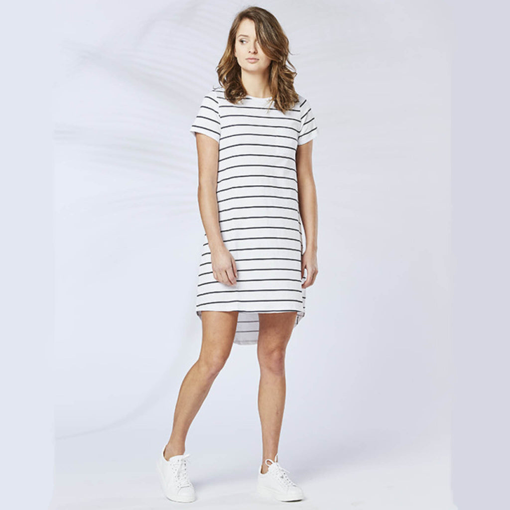 Short Sleeve T-Bar Tunic Dress