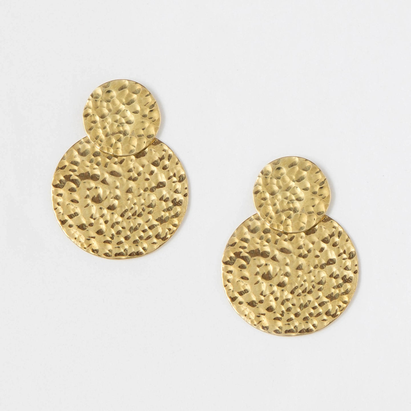 Hammered Coin Jacket Studs