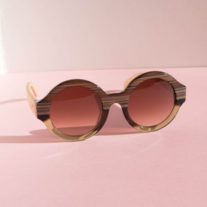 Grain Brown Gradient Sunglasses