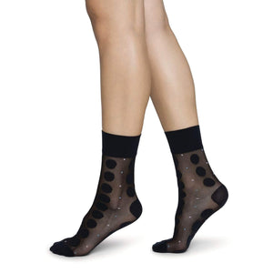 Sheer Black Slow Fashion Socks