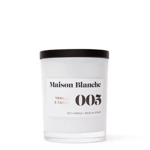 Vanilla and Cacao Scented Candle