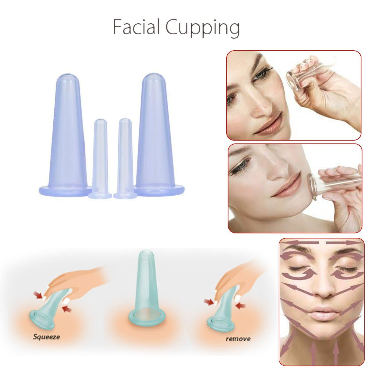 4Pcs Silicone Cupping Set