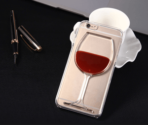Transparent Red Wine Glass Case for iPhone
