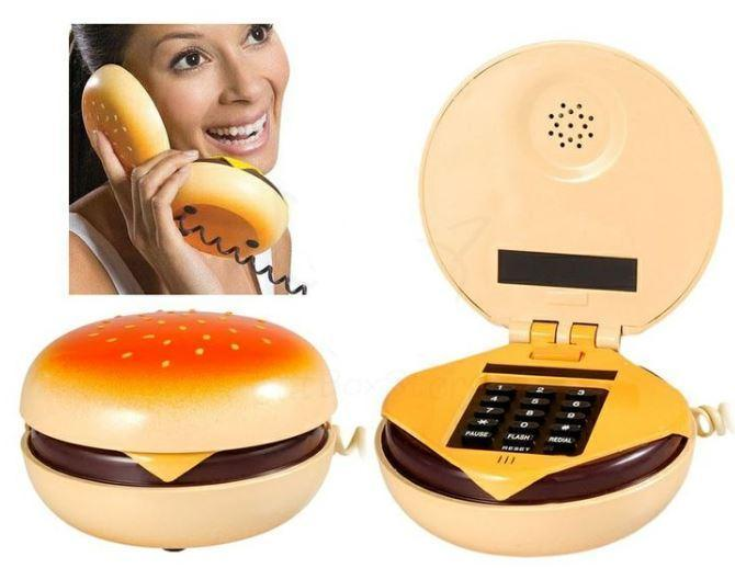 Cheeseburger Corded Phone