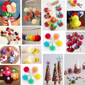 1 Set 4 Sizes Fluffy Pom Pom Maker