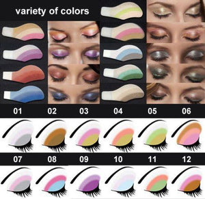 6 Pairs/set Random Mix Instant Eyeshadow Sticker