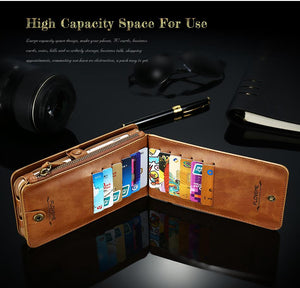 Retro Leather Wallet Phone Case