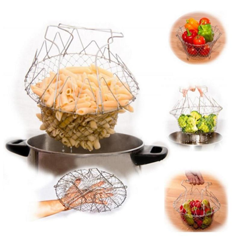 Foldable Deep Fry Chef Basket