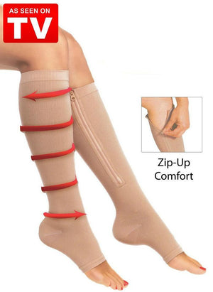Zipper Compression Socks