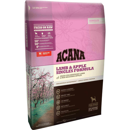 Acana Singles Limited Ingredient Diet Lamb and Apple Formula Dry Dog Food