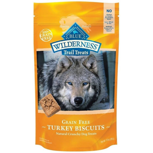 Blue Buffalo Wilderness Trail Treats Turkey Biscuits Grain-Free Dog Treats