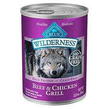 Blue Buffalo Wilderness Grain Free Beef and Chicken Canned Dog Food
