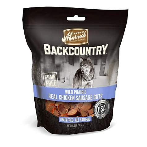 Merrick Backcountry Wild Prairie Grain Free Chicken Sausage Cuts Dog Treats
