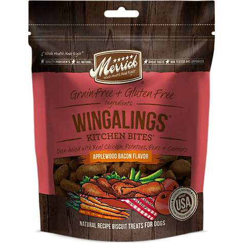 Merrick Wingalings Applewood Bacon Kitchen Bites Dog Treats