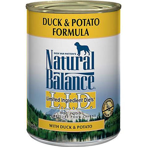 Natural Balance L.I.D. Limited Ingredient Diets Duck & Potato Formula Grain-Free Canned Dog Food