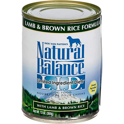 Natural Balance L.I.D. Limited Ingredient Diets Lamb & Brown Rice Formula Canned Dog Food