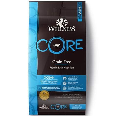 Wellness CORE Natural Grain Free Ocean Whitefish, Herring, and Salmon Dry Food
