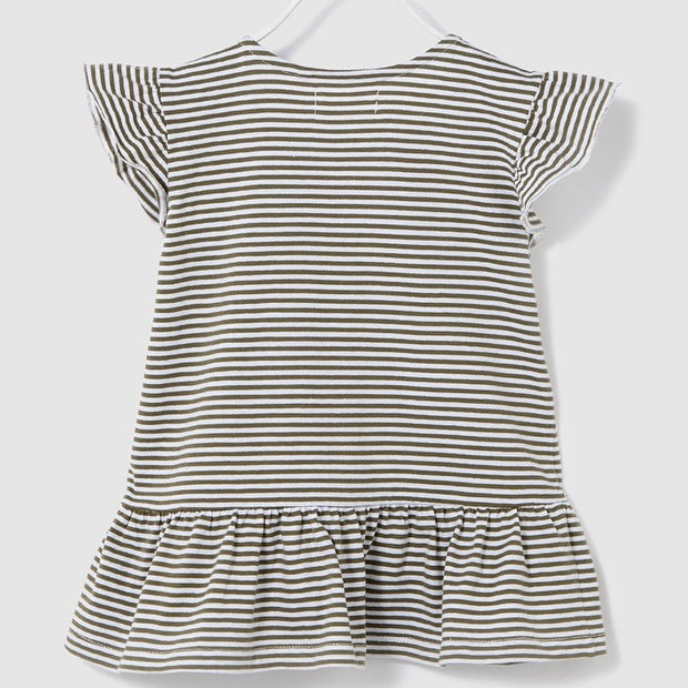Girls Striped Top. Grey