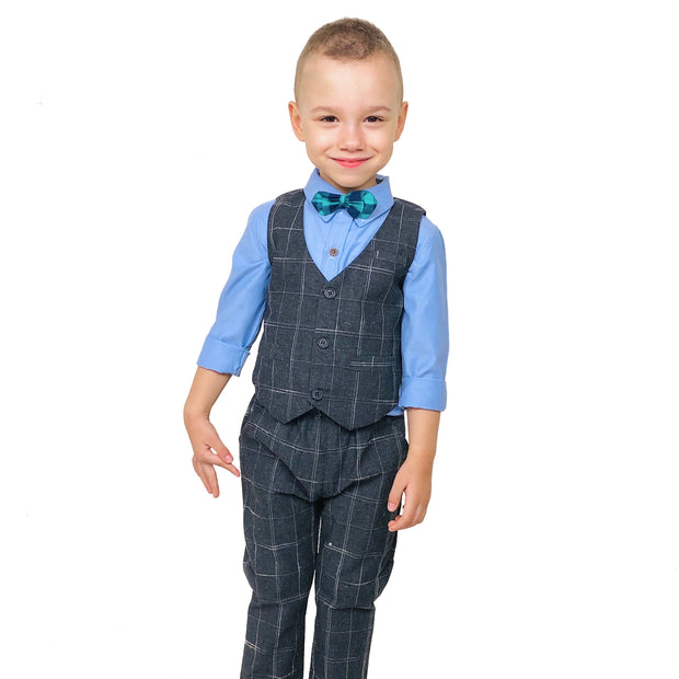 Boy's 2 PCS Elegant formal Outfit. Grey