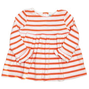 Baby Girl's knitted dress with stripes