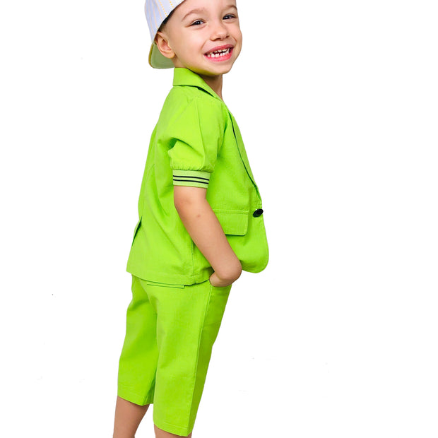Boy's 2PCS Travel & Play Summer Suit