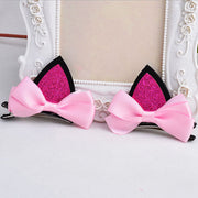 2Pcs of lovely Kitten Ears Hair Clips