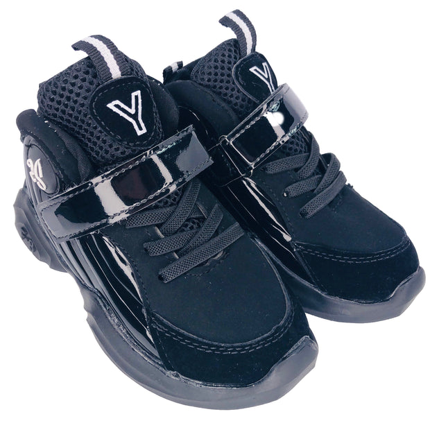 Boys High Top Sneakers. Black