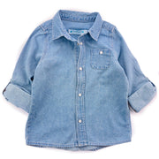 Baby Girls Denim Long sleeve Shirt.