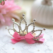 """True Princess"" - #1 Girl's Crown Rhinstone Hair Clip/ More colors available"
