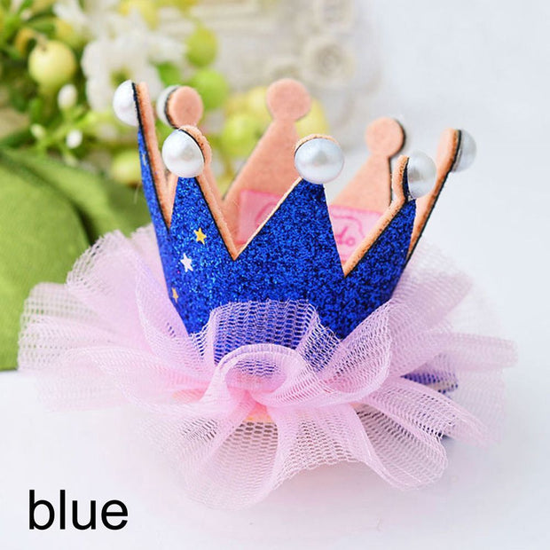 """Your Majesty"" - Girl's Lace&Pearls Princess Crown / More colors available"