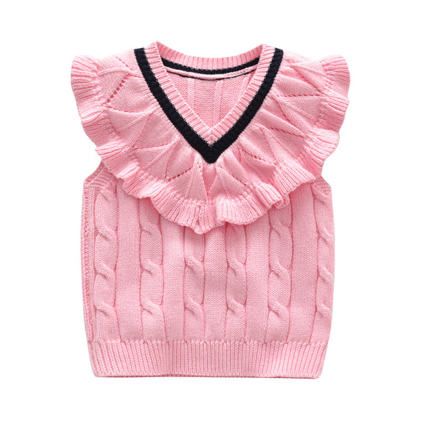 Girl's cable knit Vest