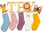 Star Cotton Socks. White
