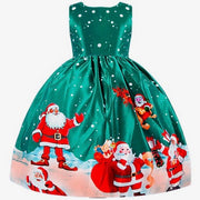 Girl's Christmas dress. Green