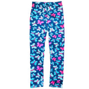 Girl Navy Blue Butterfly Print super soft Summer Leggings