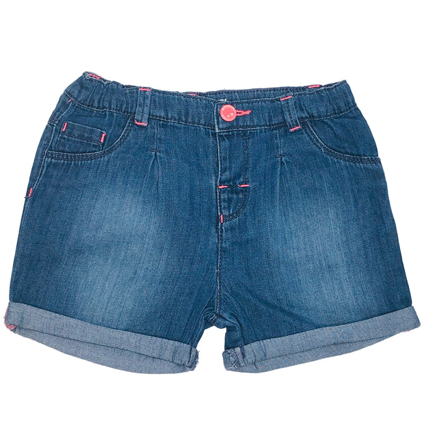 Baby Girl's Denim Chambray shorts