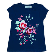 Girl's flip sequin RoseGarden Tee