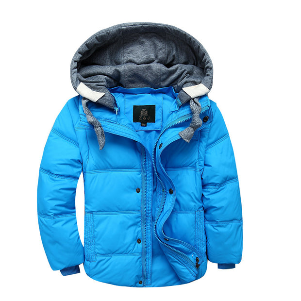 Soft warm winter down Jacket for Boys. Blue.
