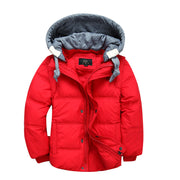 Soft warm winter down Jacket for Boys. Red.