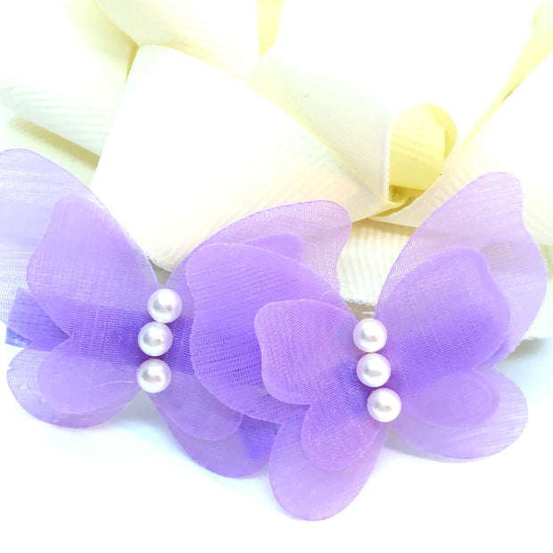 """The Butterfly Beauty"" - Girl's Chiffon Hair Clip/ More colors available"