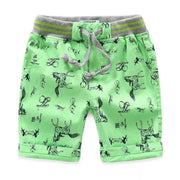 Boy's all over print Twill Shorts. Green