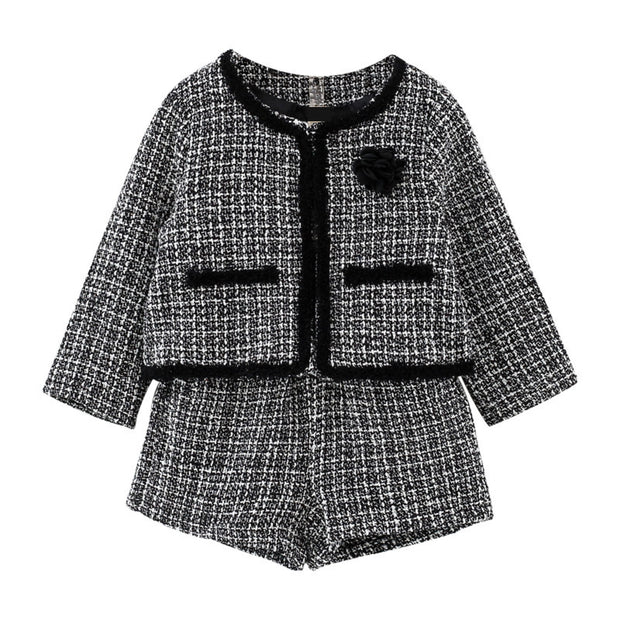 Girl's Tweed Formal Suit