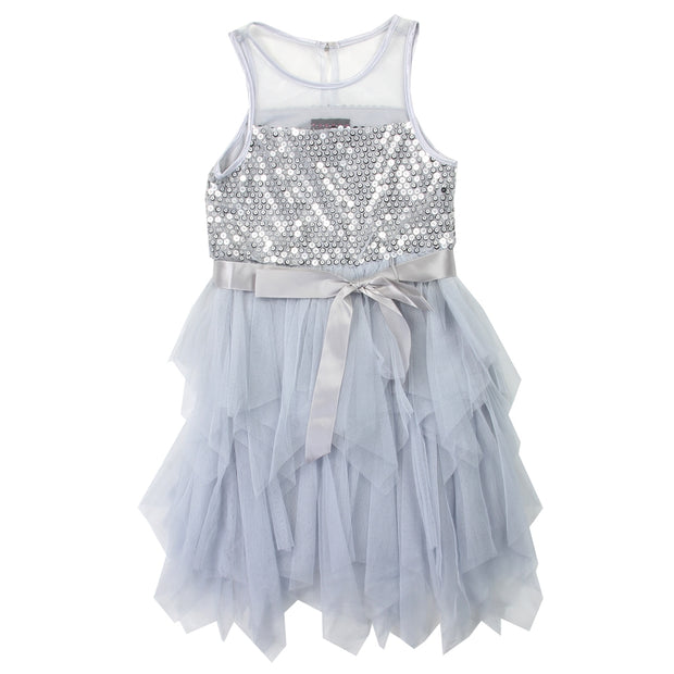 Shining Me - Silver Toddler Girl Holiday (formal) dress
