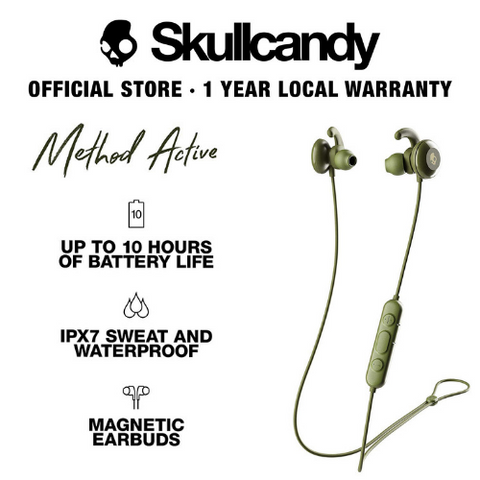 Skullcandy Method Active Bluetooth Wireless Sport In-Ear Earbuds
