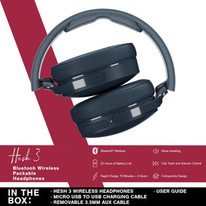 Skullcandy Hesh 3 Wireless Bluetooth Headphones (8 Colors Available)