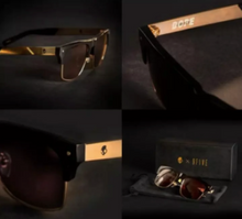 Load image into Gallery viewer, Skullcandy X 9Five Limited Ed Gold Sunglass