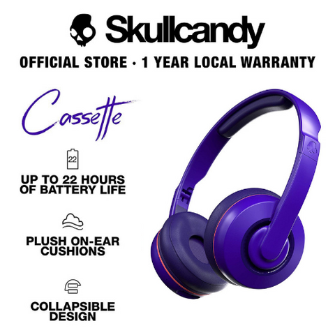 Skullcandy Cassette Bluetooth Wireless On-Ear Headphones