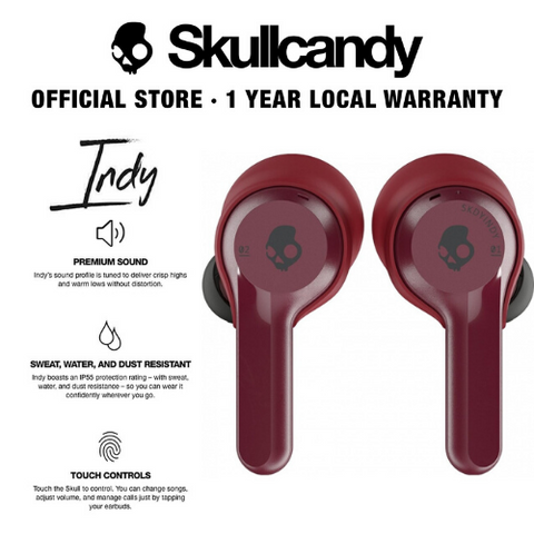 Skullcandy Indy True Wireless Bluetooth In-Ear Earbuds (4 Colors Available)